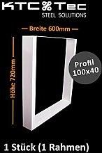 Tischgestell weiß TU100w Tischuntergestell Tischkufe Kufengestell Breite 600 mm - 1 Stück (1 Rahmen)