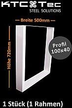 Tischgestell weiß TU100w Tischuntergestell Tischkufe Kufengestell Breite 500 mm - 1 Stück (1 Rahmen)