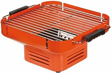 Tischgrill Holzkohle, Camping Grill, Klappgrill orange
