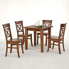 Tischgruppe aus Kiefer Massivholz Landhausstil