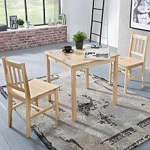 Tischgruppe BREMEN Kiefer massiv Natur 1 Tisch