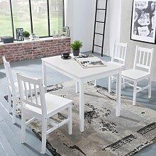 Tischgruppe BREMEN Kiefer massiv Weiß 1 Tisch