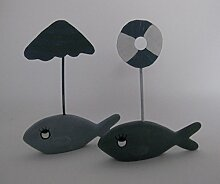 Tischkarten oder Menühalter maritim Fisch