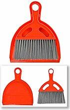 Tischkehrer Besen und Schaufel Rot - 2 Sets