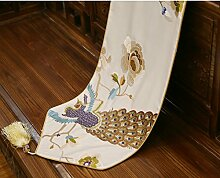 Tischl?ufer blumenstickerei-tischflagge couchtisch tischl?ufer bett-runner tv schrank dekorative stoff-B 38x190cm(15x75inch)