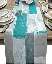 Tischläufer, 228 cm lang, Bauernhaus-Kommode,