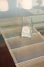 Tischläufer(2stk.) beige 40x135cm Organza Grund