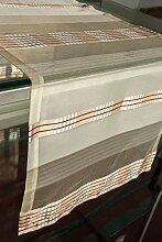 Tischläufer (2Stk.) cappuccino 40x135cm Organza