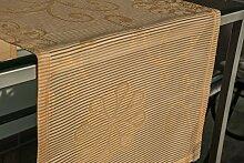 Tischläufer (2Stk.) orange, ca. 40x135cm, Organza
