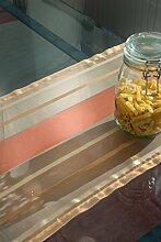Tischläufer (2Stk.) orange Organza, hauchzart,