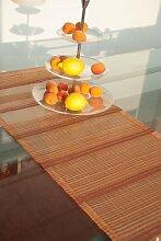 Tischläufer (2Stk.) orange/rot 40x135cm Organza