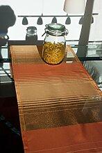 Tischläufer (2Stk.) Organza mit Querstreifen in