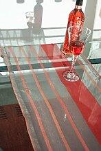 Tischläufer (2Stk.) Schwarz/rot transparent