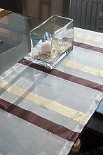 Tischläufer (2Stk.) weiss/coffee, ca.40x135cm,
