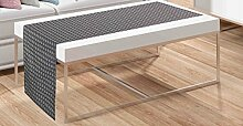 Tischläufer 40/140 Silbergrau Läufer Blickdicht Tischwäsche Tischdecke Dekoschal grau modern edel ausgefallen