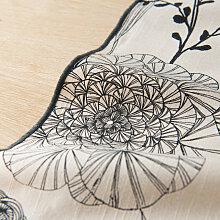 Tischläufer aus Baumwolle mit Motiven, naturweiß