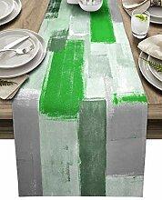 Tischläufer aus Baumwollleinen, 228 cm lang,