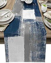 Tischläufer aus Baumwollleinen, 274 cm lang,