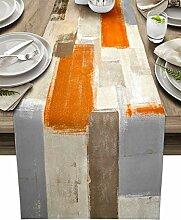 Tischläufer aus Baumwollleinen, 91,4 cm lang,
