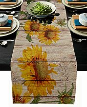 Tischläufer aus Leinen, 33 x 228 cm lang,