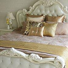 Tischläufer/bett-runner/europäisch,luxus,hotel/bett flagge/ bed crow mat/die sterne,pailletten gold table flag-A 50x240cm(20x94inch)