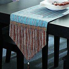 Tischläufer Betttuch gestreiften Baumwolle und