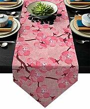 Tischläufer Blume Kirsche Rosa Blüten