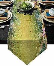 Tischläufer Blumenfeder Hochzeit Party