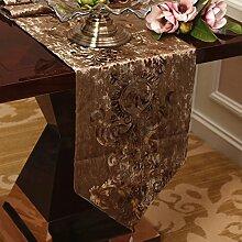 Tischläufer/couchtisch flanell table flag/dekoration/tischdecke/untersetzer/bett-runner-C 33x220cm(13x87inch)