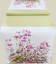 Tischläufer - Druckmotiv ''Blumen -