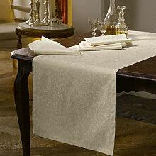 Tischläufer: Edle Jacquard-Damast-Tischwäsche