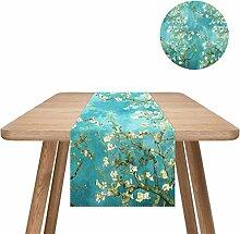 Tischläufer Einfache Baumwolle Leinen Couchtisch