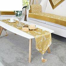 Tischläufer einfache tabelle tischdecke tee tischläufer europäisch tabelle tuch non-slip bett schal-A 30x180cm(12x71inch)