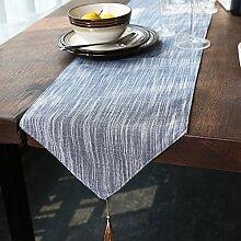 Tischläufer,Einfachen baumwollstoff überzogen couchtisch servietten,Dekoratives handtuch,Bett-runner,Tee tischläufer-A 30x180cm(12x71inch)