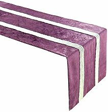 Tischläufer,Elegante Lila Strassstreifen