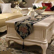 Tischläufer Europäisch Luxuriös Chinesischer Stil Tischdecke Tv-schrank Tee Tischdecke-B 32x210cm(13x83inch)