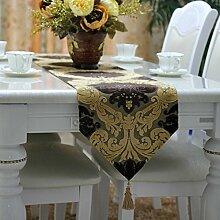 Tischläufer European günstige flower table flag Bett-runner Tee tischläufer-C 30x220cm(12x87inch)