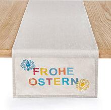 Tischläufer Frohe Ostern, beige