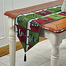 Tischläufer für Weihnachten, Cartoon-Tiermotiv,