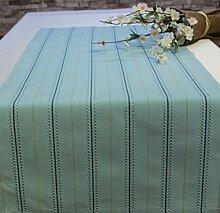 Tischläufer Hohlsaum Tischband Läufer 100% Baumwolle 40 x 100 cm Blau
