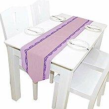 Tischläufer Home Decor, Hochzeit zarte Violette