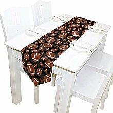 Tischläufer Home Decor, Vintage braun und schwarz