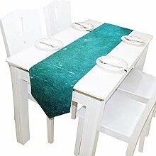 Tischläufer Home Decor, Vintage Grunge Türkis