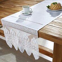 Tischläufer in Weiß ca.50/150 cm