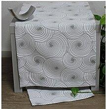 Tischläufer, Läufer DOREEN 40x100cm weiß grau Hossner (23,95 EUR / Stück)