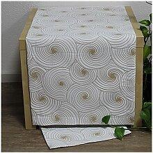 Tischläufer, Läufer DOREEN 40x100cm weiß hellbraun Hossner (19,95 EUR / Stück)
