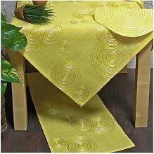Tischläufer, Läufer LUGAU KREISE 40x150cm gelb Hossner (15,50 EUR / Stück)