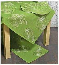 Tischläufer, Läufer LUGAU KREISE 40x150cm grün