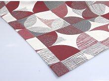 Tischläufer, Läufer MELANIE 50x150cm weiß rot Hossner (23,95 EUR / Stück)