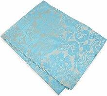 Tischläufer Läufer ORNAMENT türkis blau gold 33 x 180 cm Voß